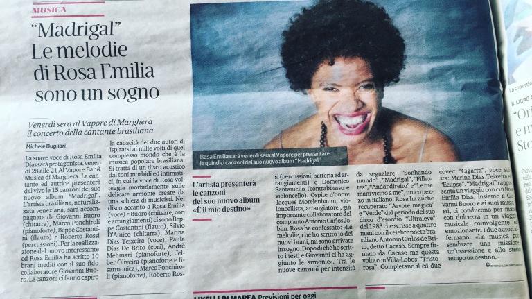 Rosa Emilia Dias La Nuova Di Venezia